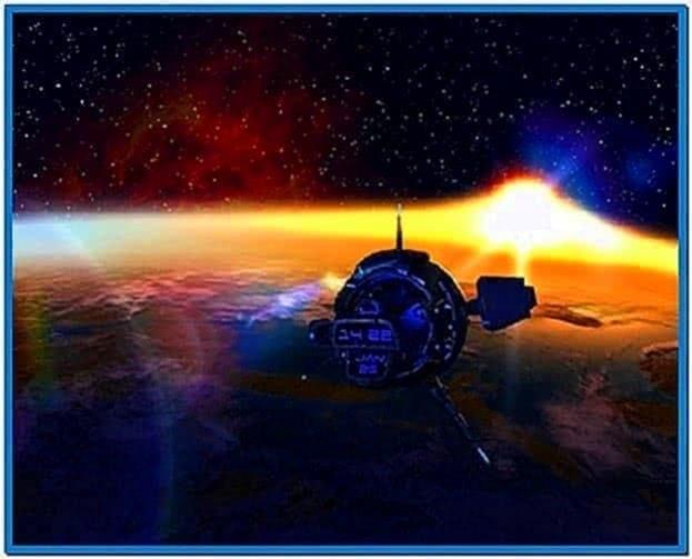 Orbital Sunset 3D Screensaver 1.0