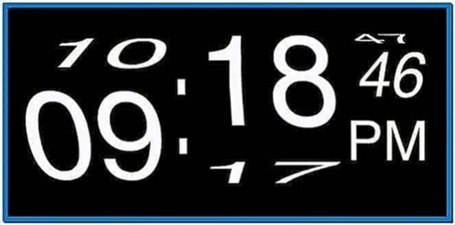 OS X Screensaver Clock Flip