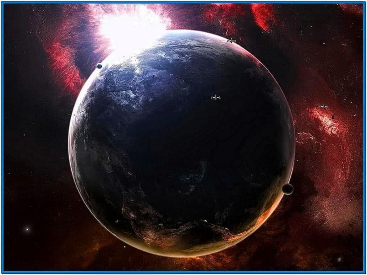 Outer Space Screensaver Animated Wallpaper