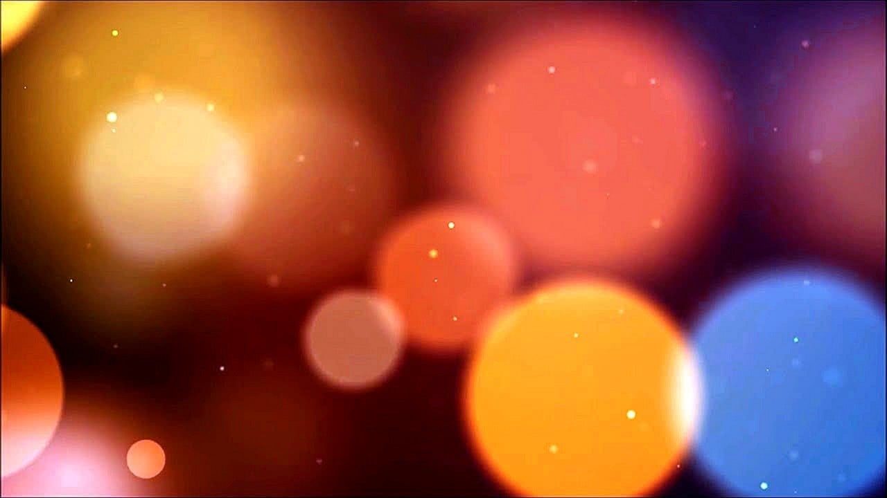 RED and ORANGE LITTLE LIGHTS BOKEH Particles Effect Screensaver