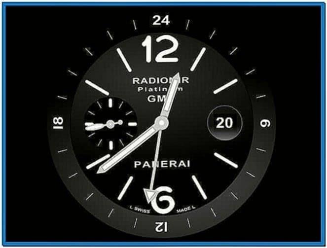 Panerai Screensaver Clock