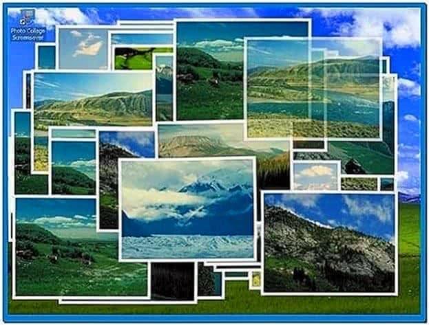 Photo collage screensaver freeware