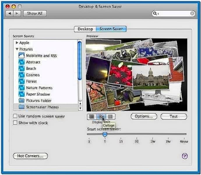 Photo Collage Screensaver Mac