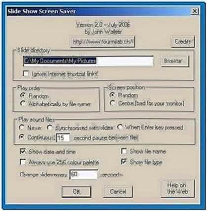 Photo Slideshow Screensaver Code