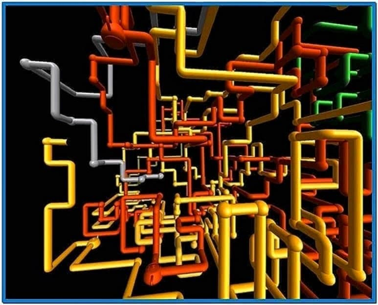 Pipes Screensaver Teapot Easter Egg