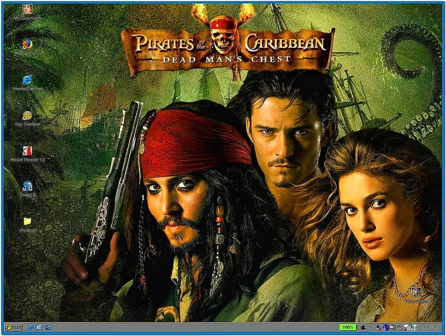 Pirates of The Caribbean Screensaver With Music