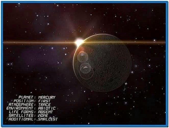 Planet Mercury 3D Screensaver