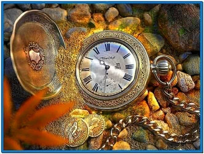 Pocket Watch in Water Screensaver