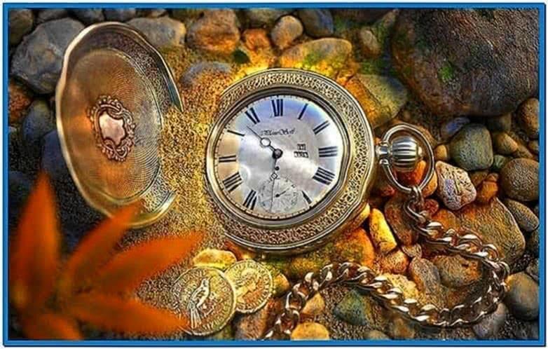 Pocket watch screensaver