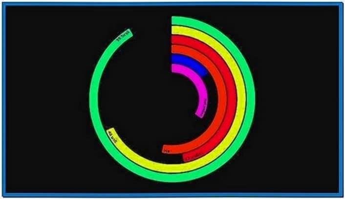 Polar Clock Screensaver Linux