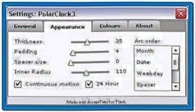 Polar Clock Screensaver Windows XP