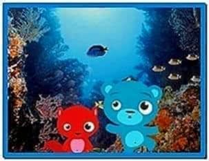 Popular screensaver 3D aquarium