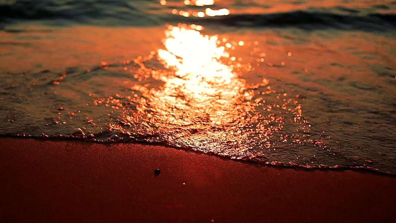 VideUtopia Waves with Sunset Screensaver