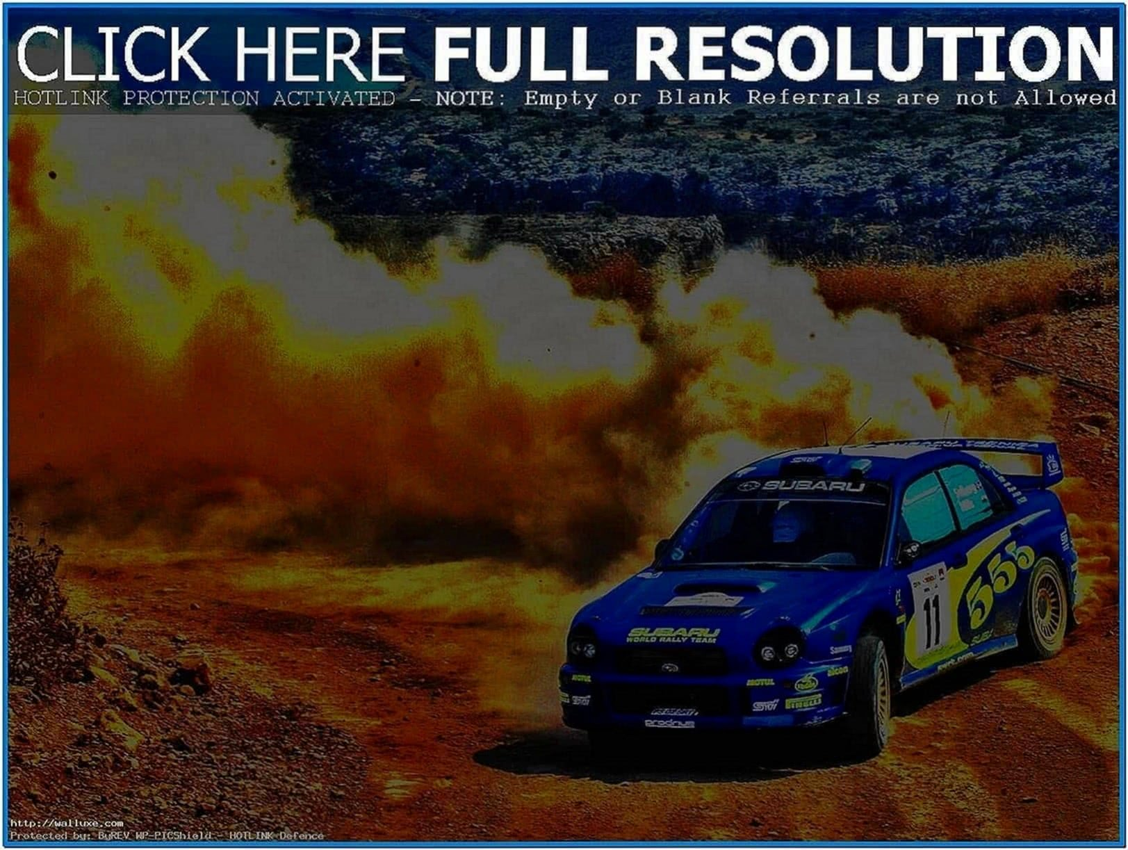 Rally Car Screensaver
