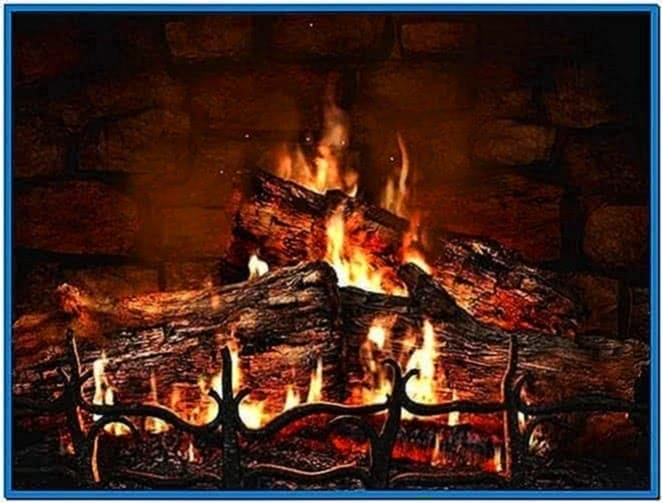 Real fireplace screensaver