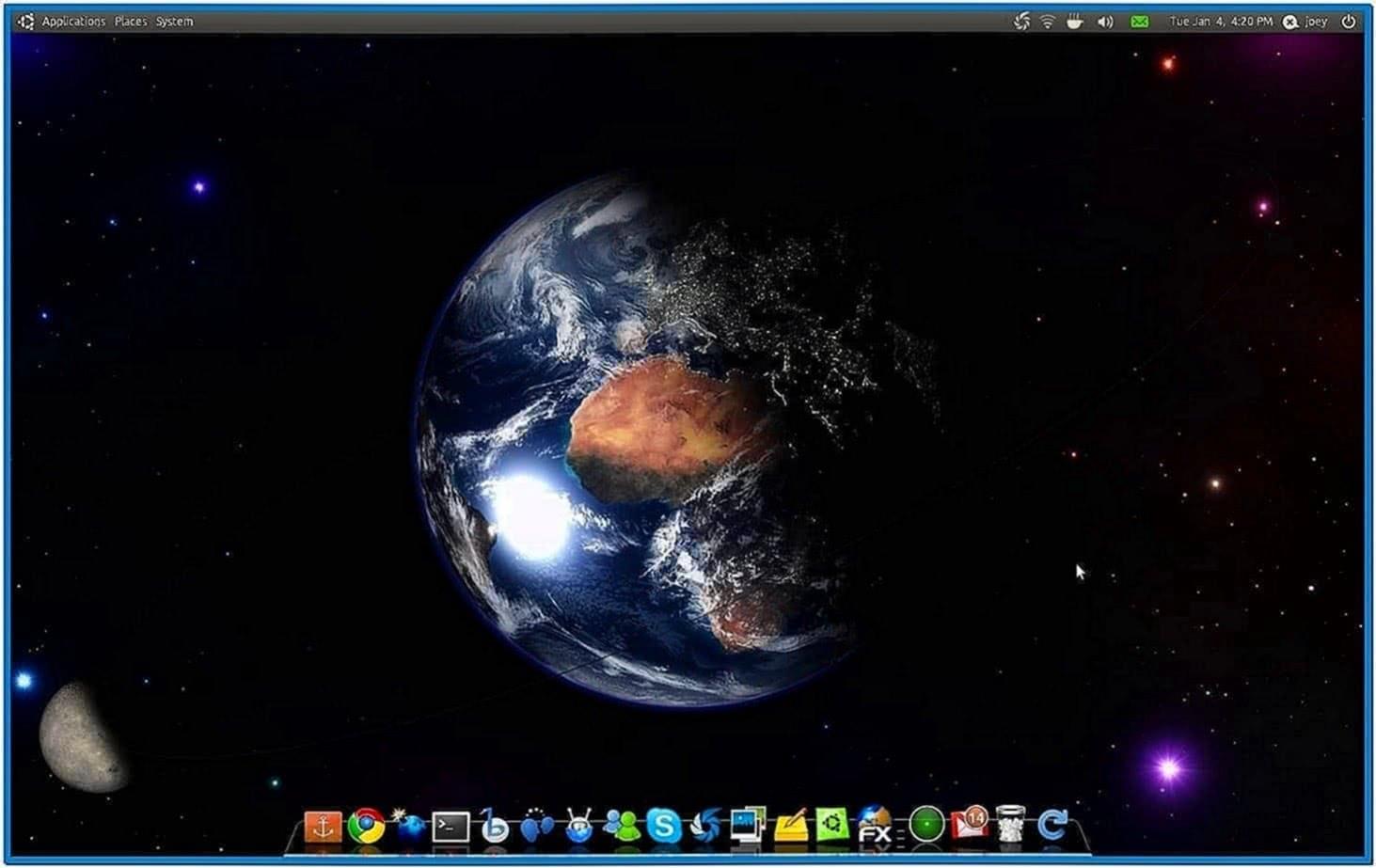 Real Time Earth Screensaver