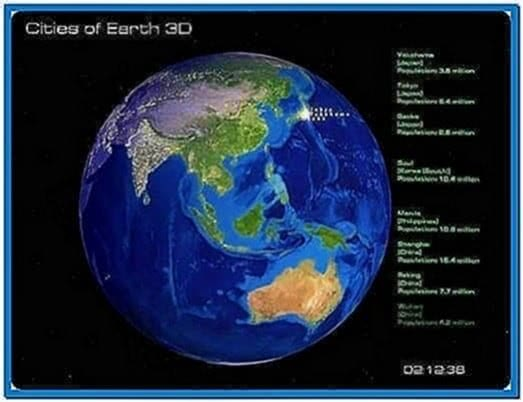 Real time earth screensaver Mac