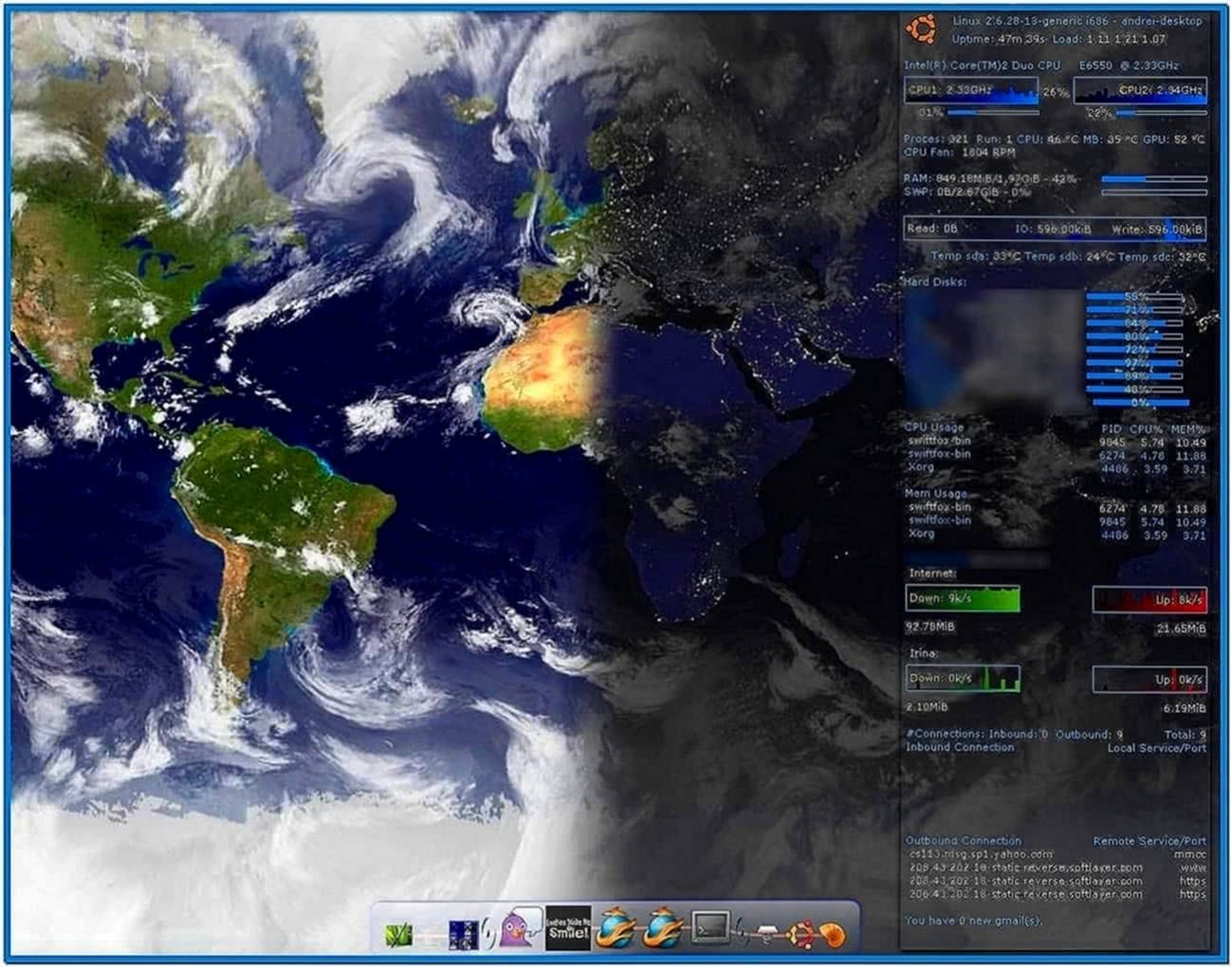Real Time Earth Screensaver