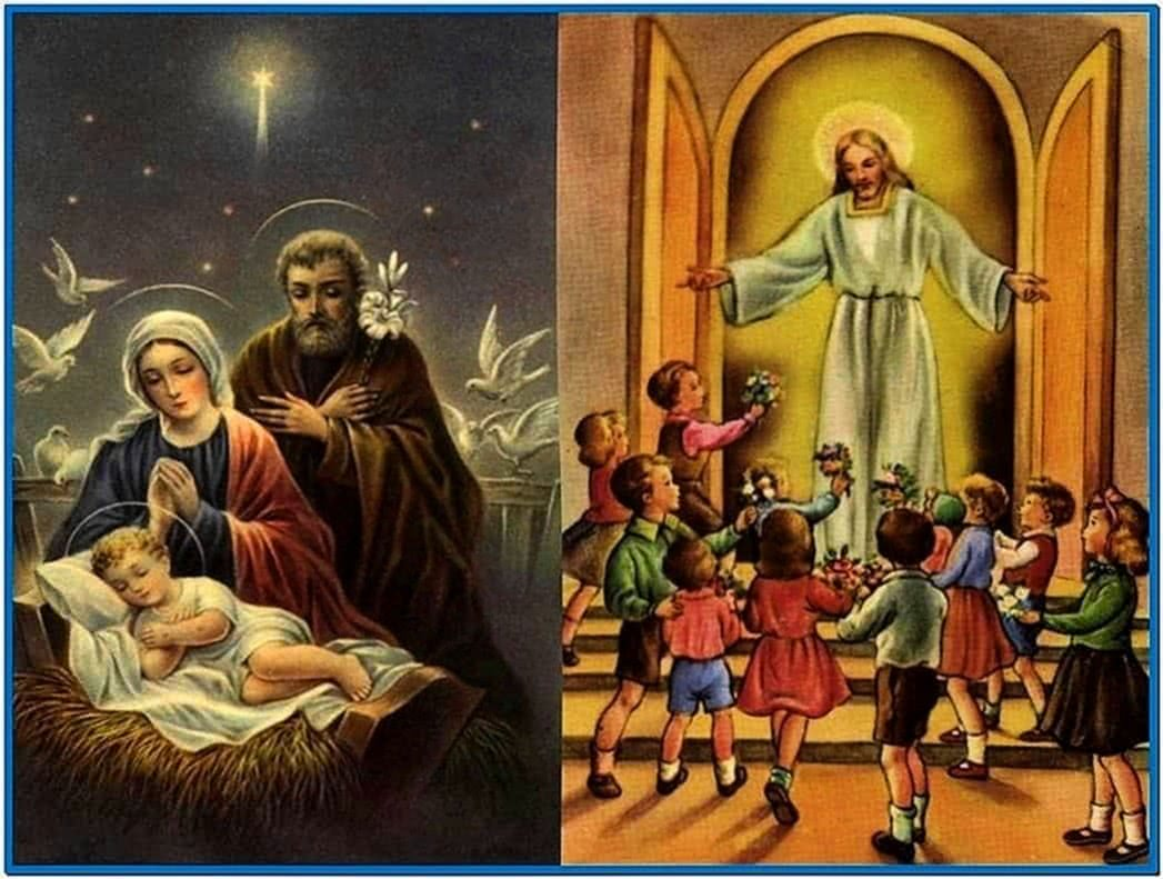 Religious christmas wallpaper screensavers - Download free