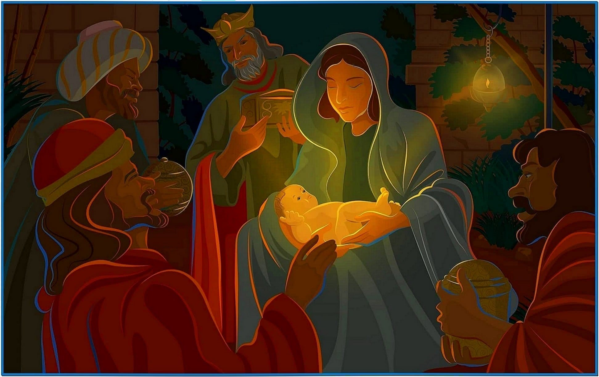 Religious Christmas Wallpaper Screensavers