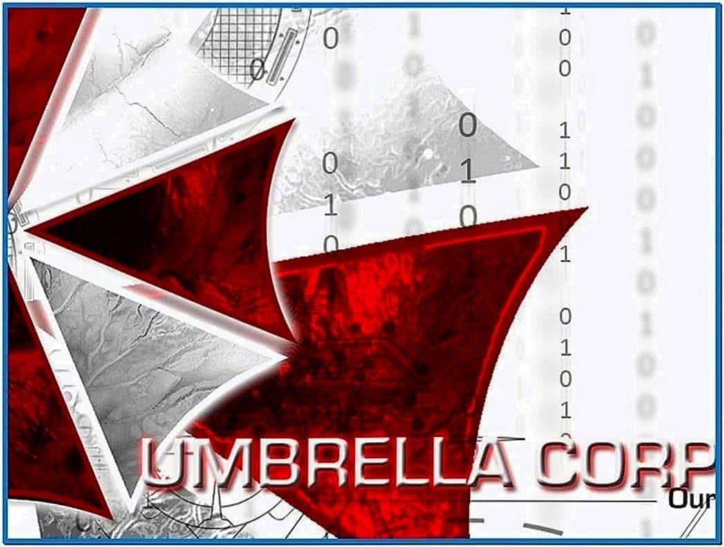 Resident Evil Umbrella Logo Screensaver
