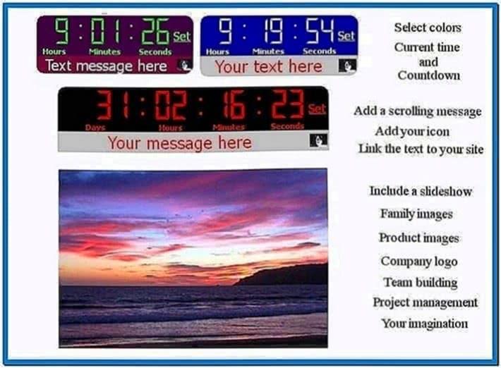 Retirement countdown clock screensaver - Download free