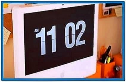 Retro-Style Flip Clock Screensaver
