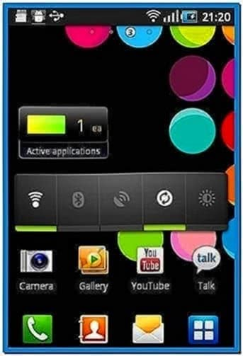 Samsung galaxy ace screensaver