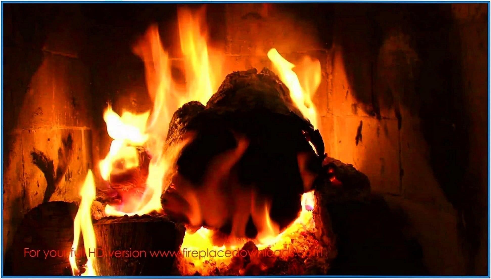Samsung Led TV Fireplace Screensaver