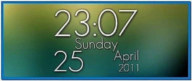 Samsung Mobile Clock Screensaver