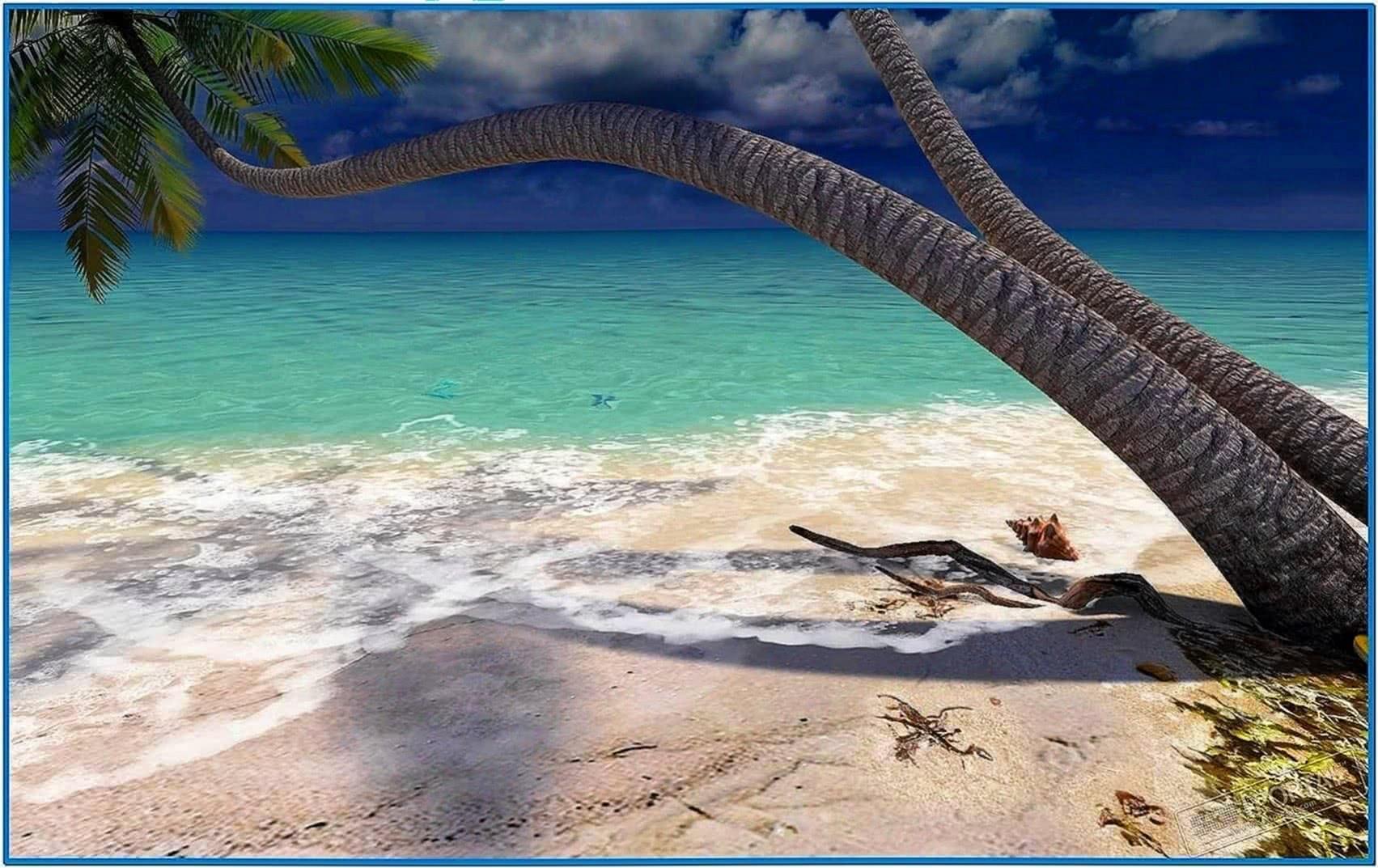Sandy Beach 3D Screensaver 1.0