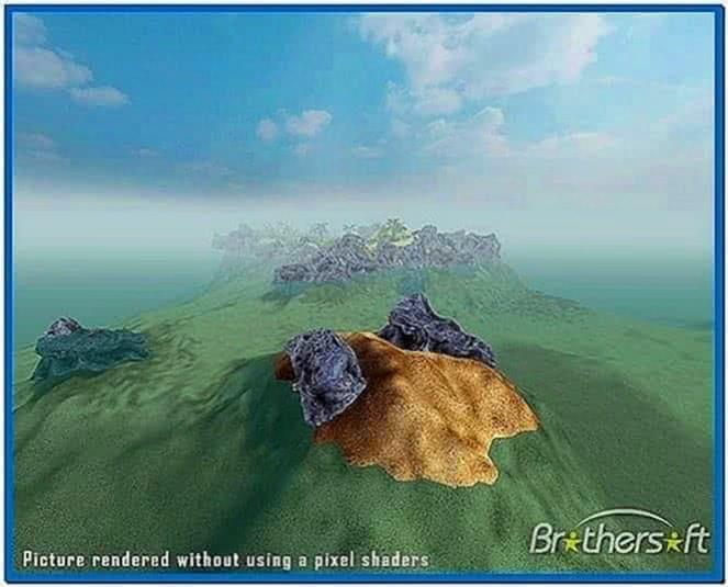 Sandy Island 3D Screensaver