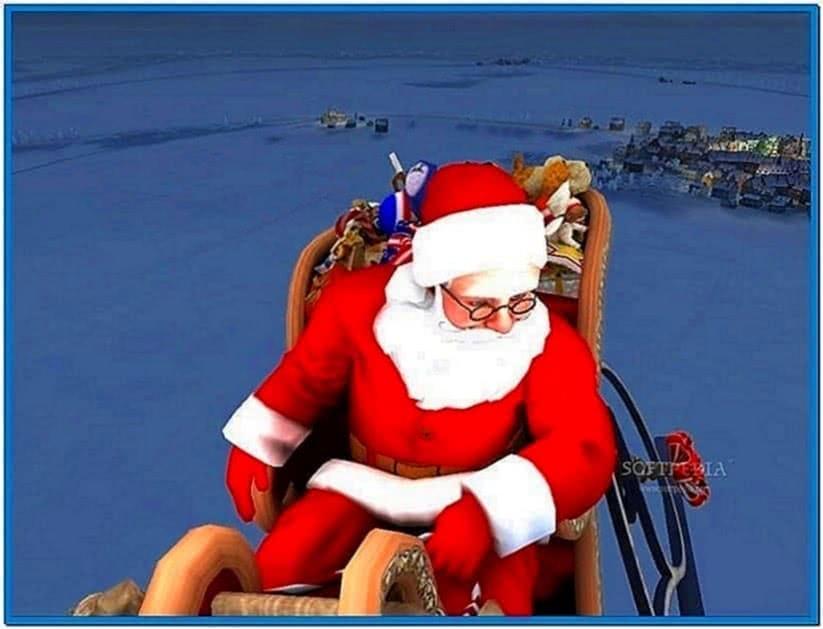 Santa Claus 3D Screensaver Full