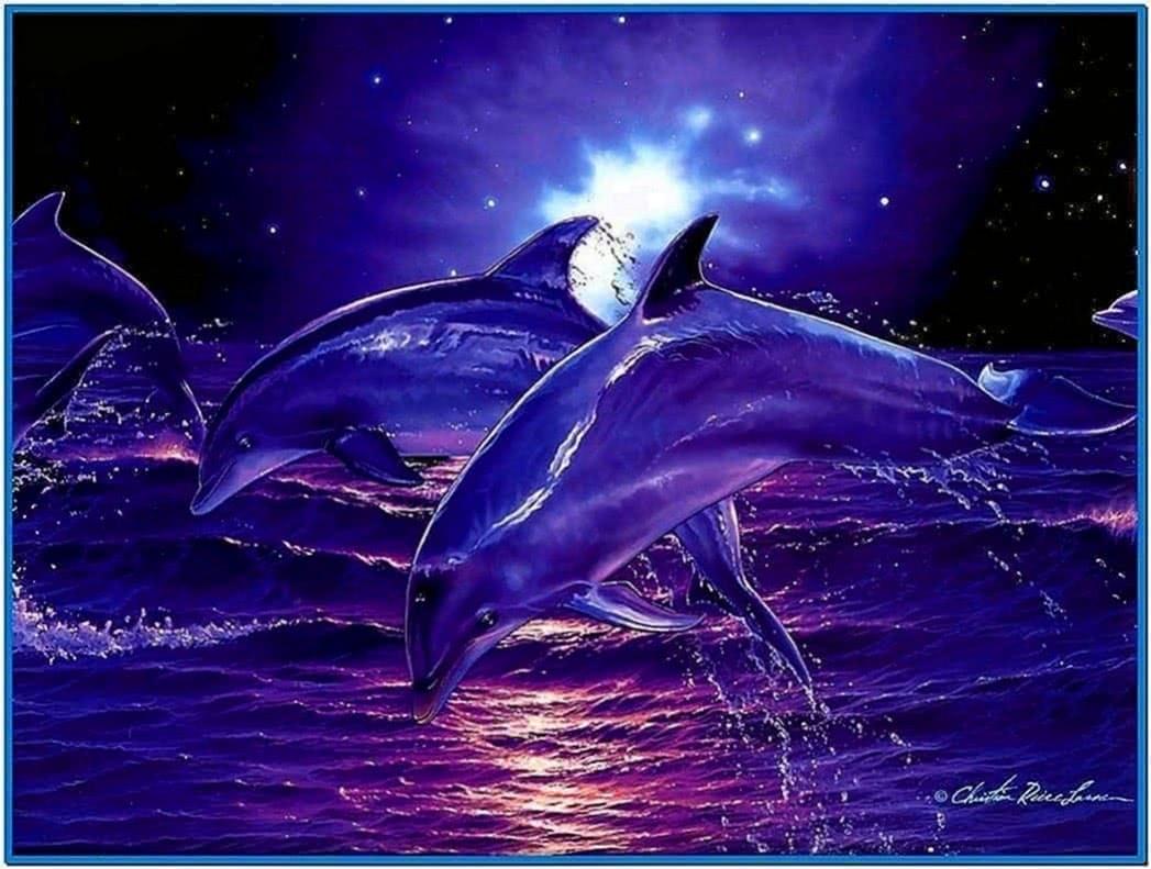 Screensaver 3D Dolphin