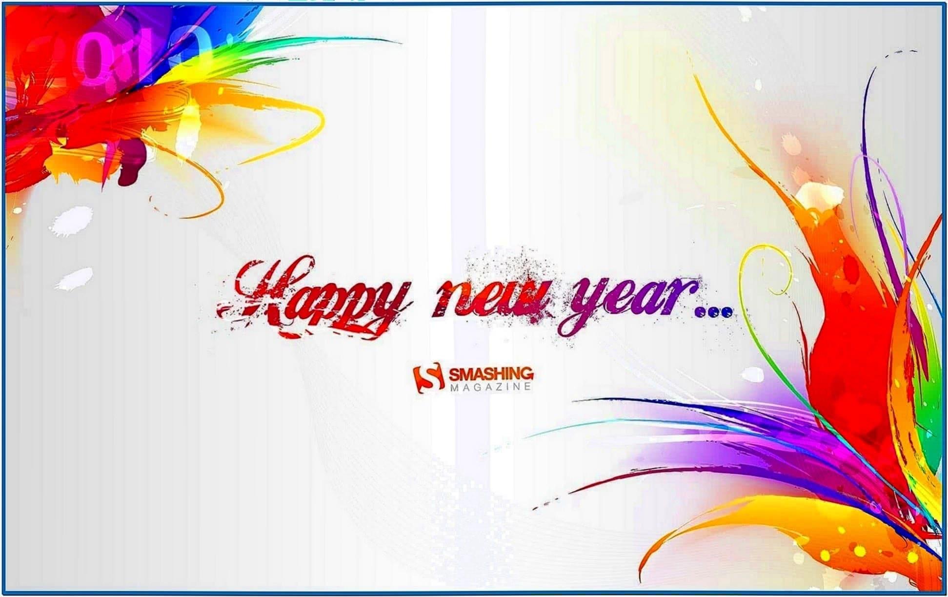 Screensaver 3D Happy New Year