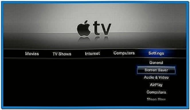 Screensaver Apple TV Itunes