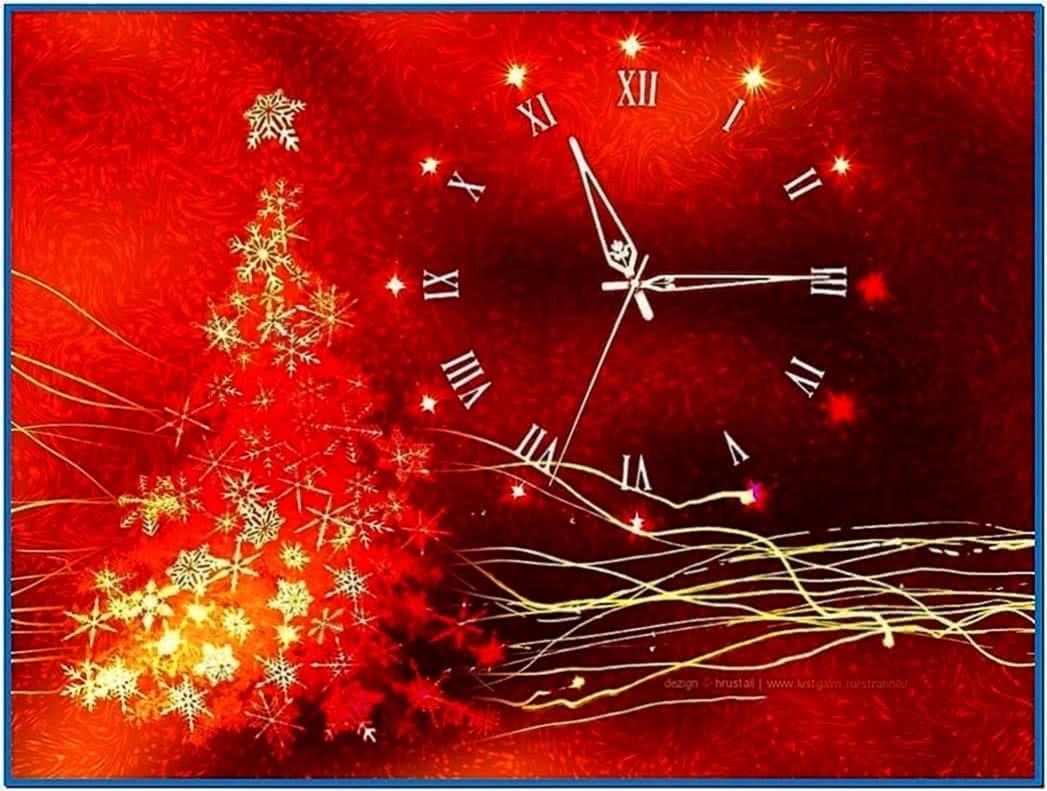 Screensaver Christmas Clock
