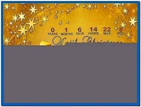 Screensaver christmas countdown