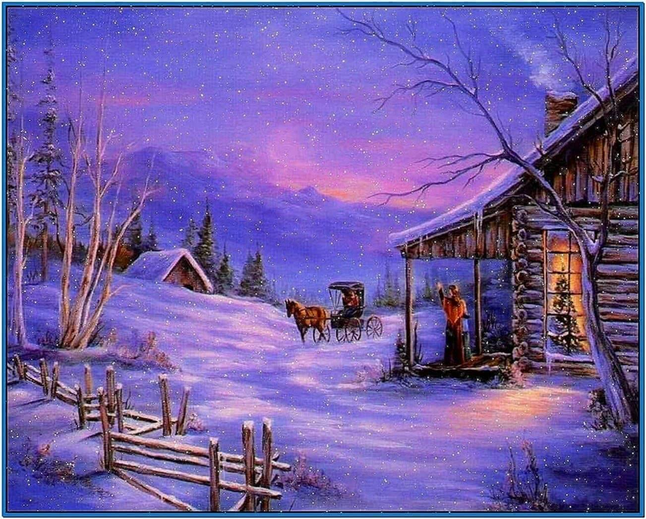 Screensaver Christmas Snow