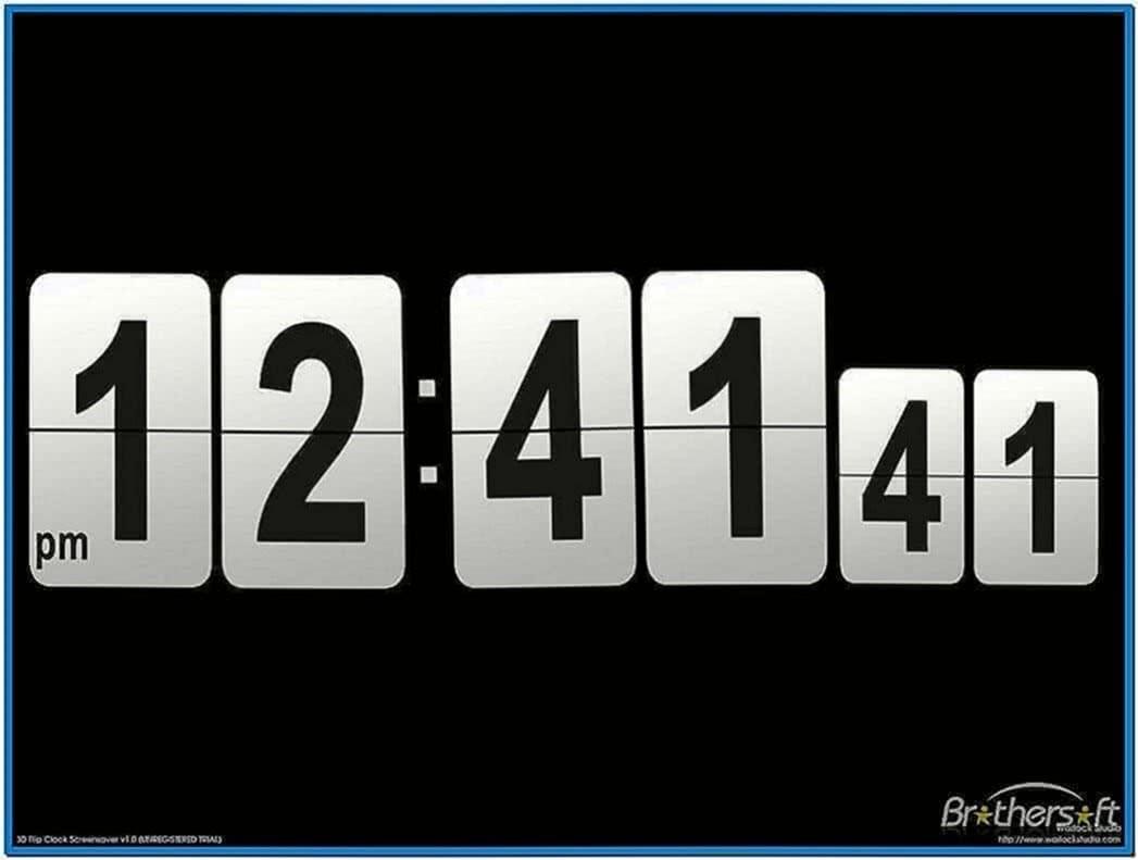Screensaver clock calendar