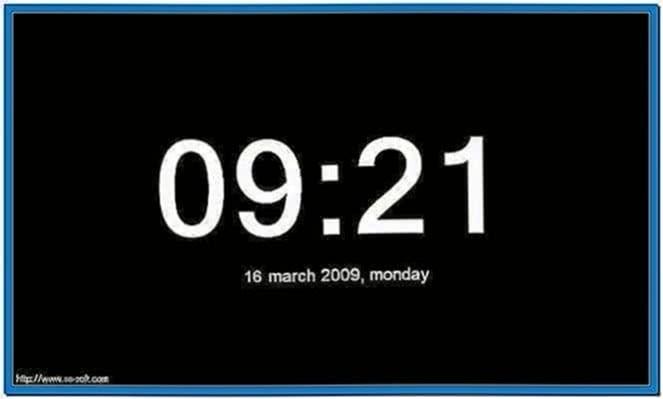 Screensaver Clock Calendar Download Free