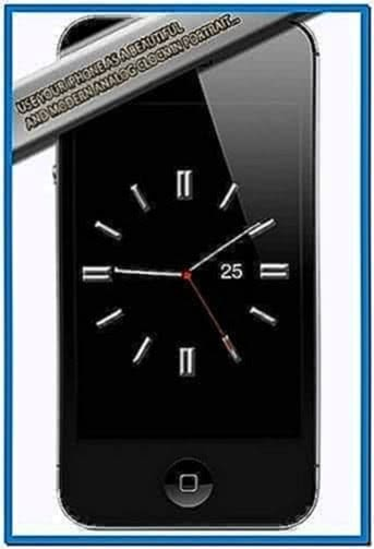 Screensaver clock for iPhone