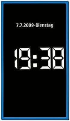 Screensaver Clock for Nokia 5800