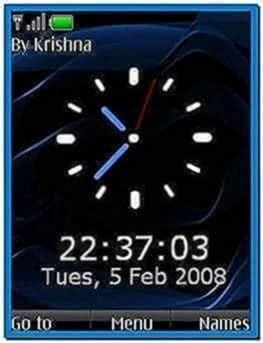 Screensaver Clock for Nokia 6300