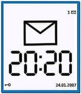 Screensaver Clock for Nokia E63