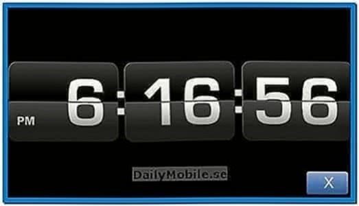 Screensaver Clock for Nokia E63