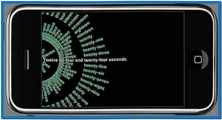 Screensaver clock iPhone