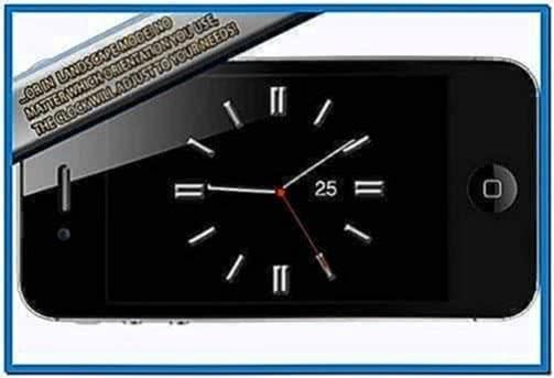 Screensaver clock iPhone 4
