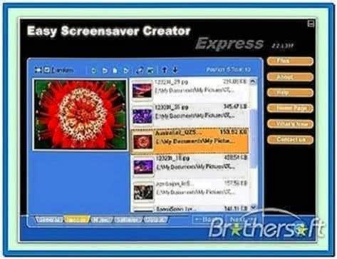Screensaver Creator Program