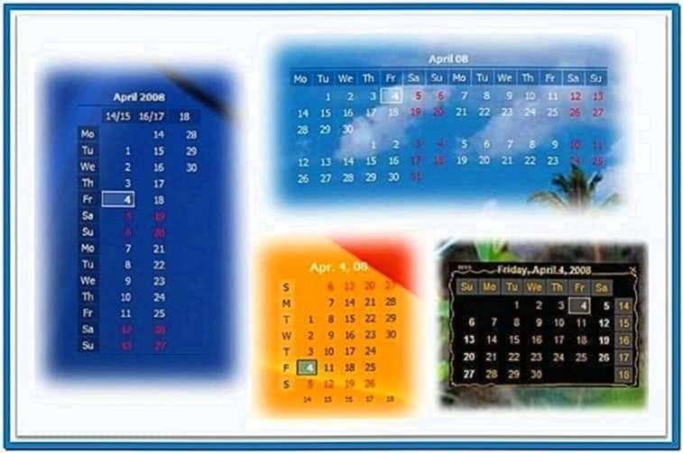 Screensaver Desktop Calendar